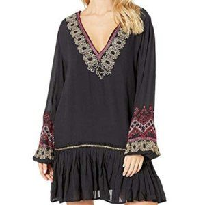 Free People Wild One Embroidered Mini Dress xs